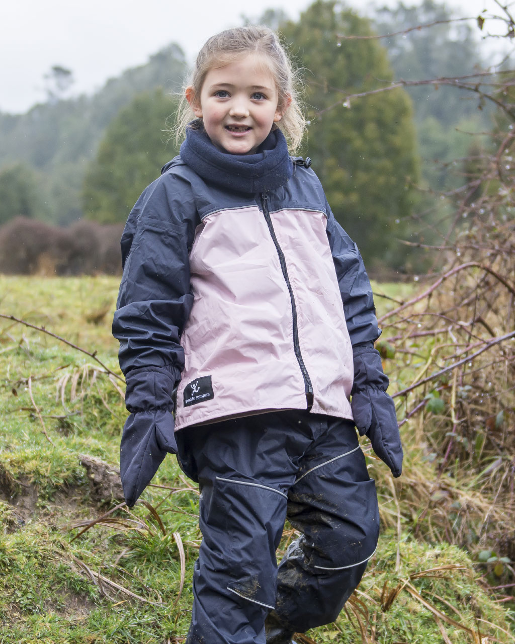 Kids Mittens – Navy