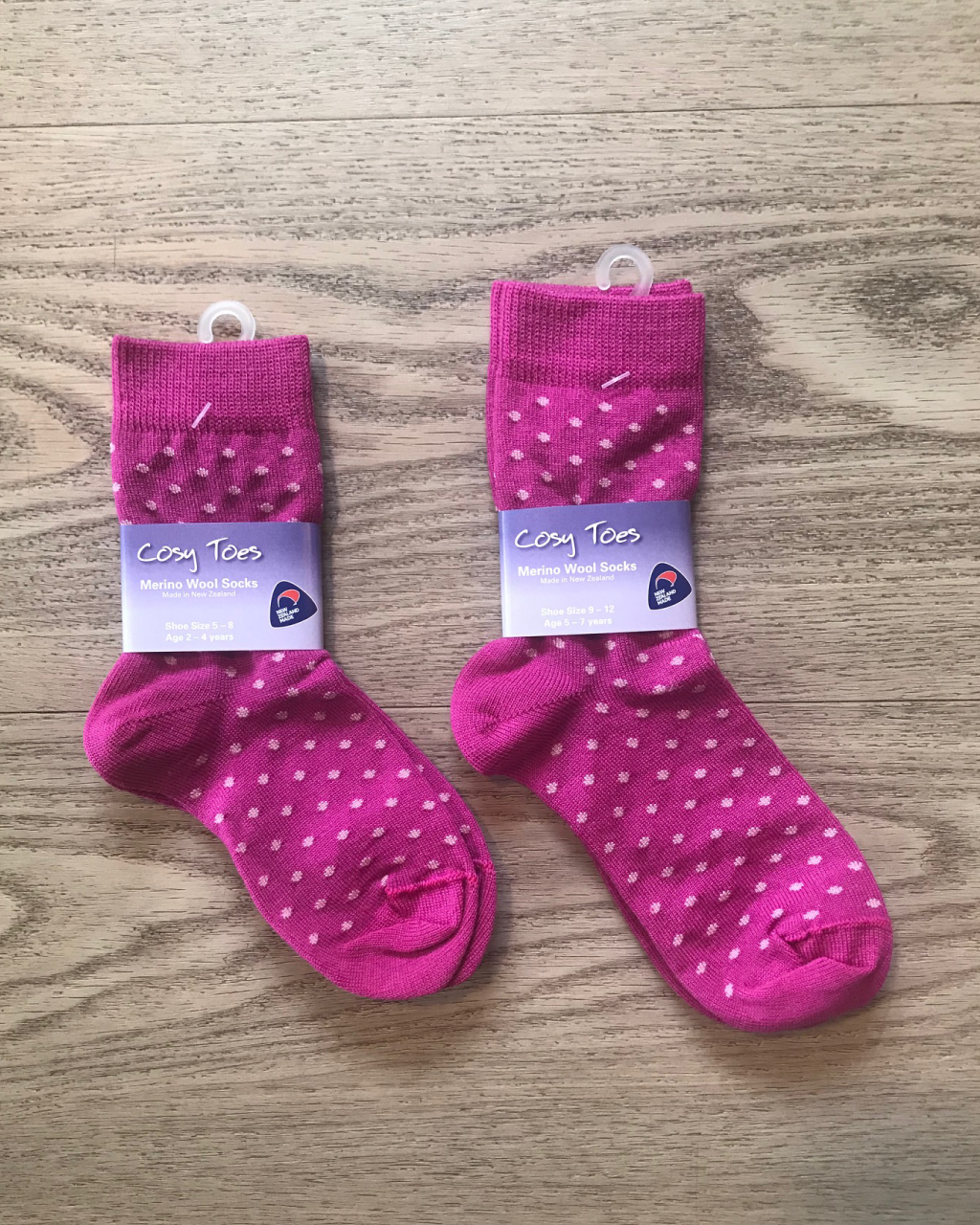 Kids Merino Socks – Berry Dot Crew