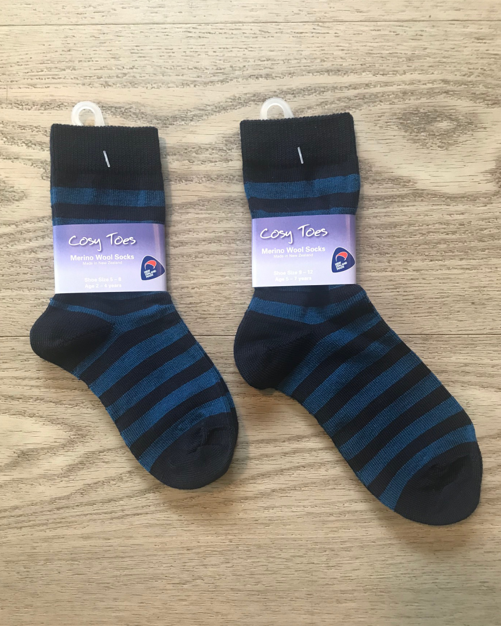 Kids Merino Socks – Navy/Blue Crew