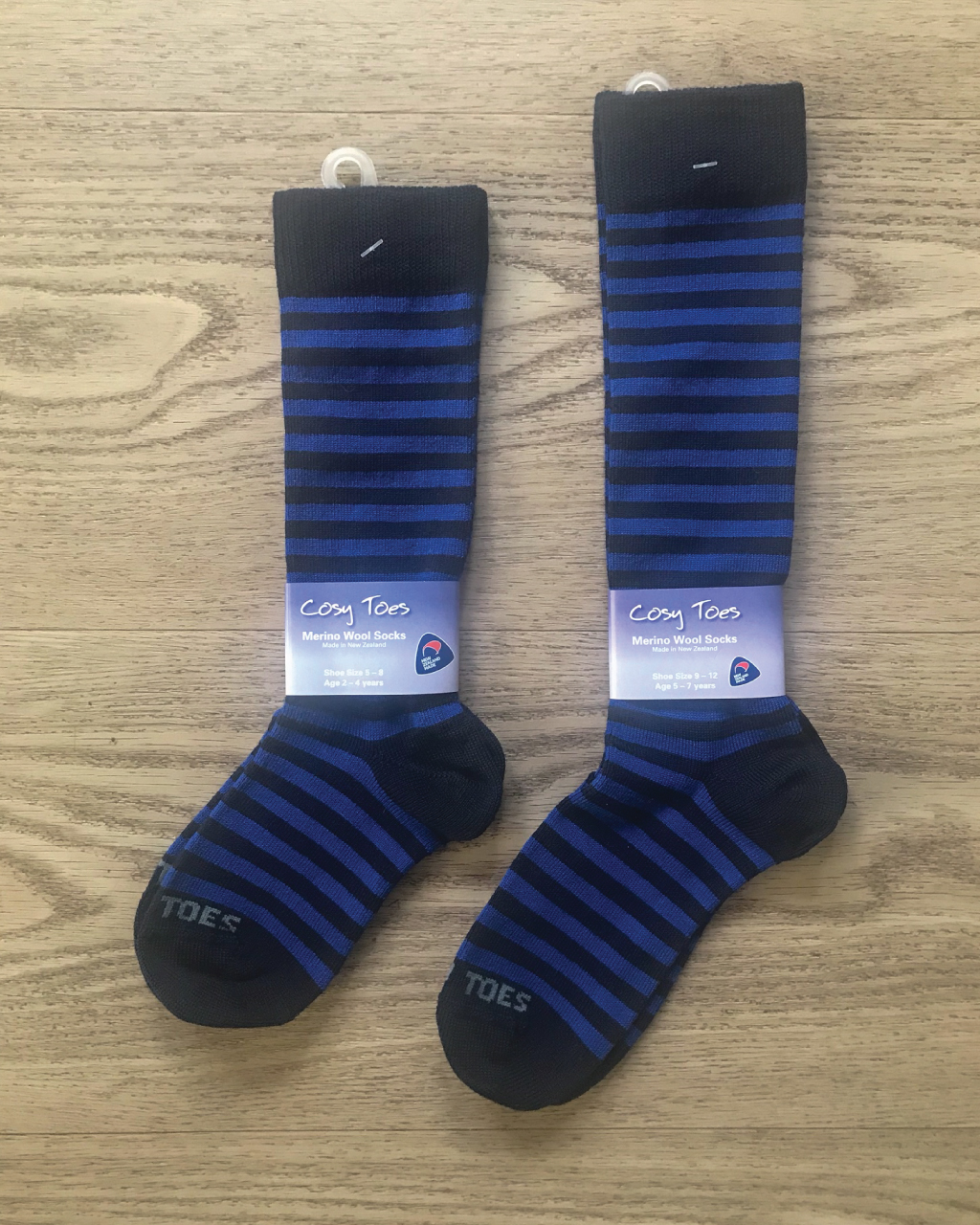 Kids Merino Socks – Navy/Royal Long