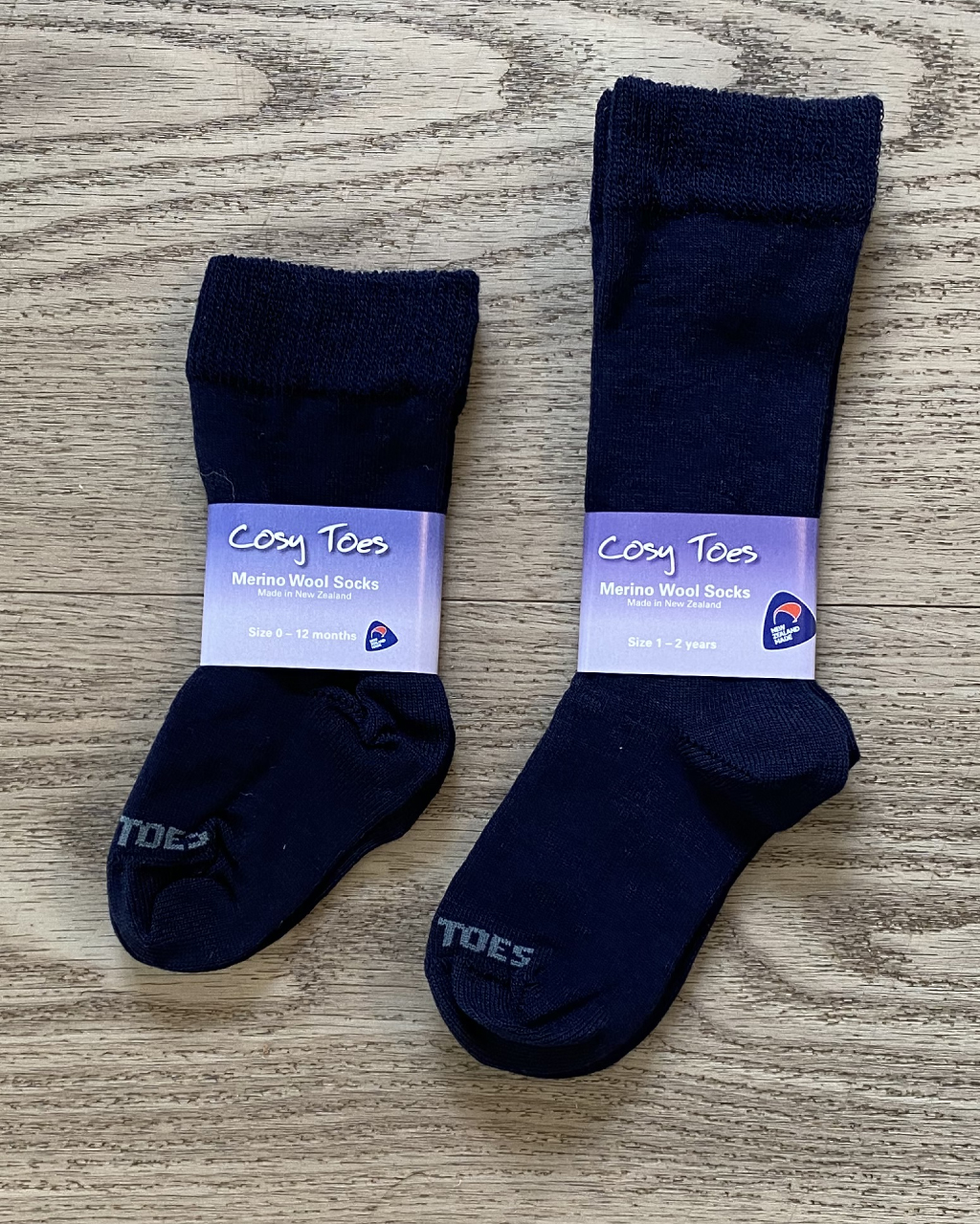 Baby Merino Socks – Navy Long